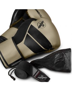 S4 BOXING GLOVE KIT CLAY  w/ FREE handwraps and washbag