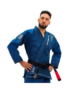 Gold Weave Warrior Jiu Jitsu Gi-Blue