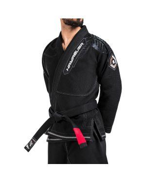 Gold Weave Warrior Jiu Jitsu Gi-Black