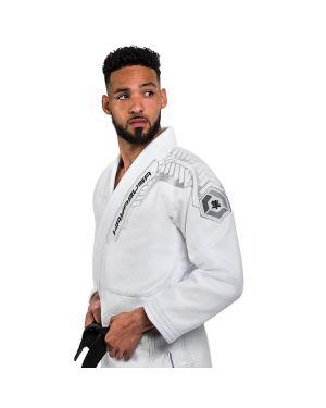 Gold Weave Warrior Jiu Jitsu Gi-White